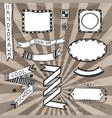 vintage diy design elements drawing set of frames vector image