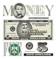 money 5 Dollar vector image vector image