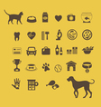 Cat vs dog infographic element vector image vector image