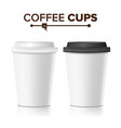 3d coffee paper cup collection 3d coffee vector image