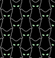 Black cat seamless pattern backgrounds for vector image
