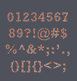 Colorblind Numbers vector image
