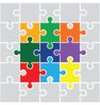 jigsaw colourful set vector image vector image
