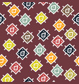 abstract background with seamless african pattern vector image