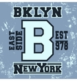 Brooklyn vintage stamp vector image