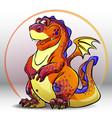 cartoon red dragon vector image