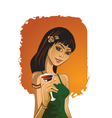 Cocktail party girl vector image