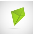 Creative icon kite on a simple background vector image