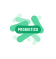 green probiotics bacteria logo vector image