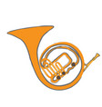 isolated horn instrument vector image