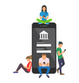 mobile banking concept of people vector image