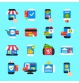 Mobile payments icons set vector image
