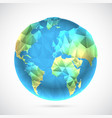 polygonal world globe vector image