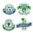 soccer ball and trophy icon for football sport bar vector image