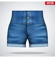 stylish high waist denim shorts vector image