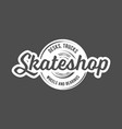 vintage badges with skateboard vector image