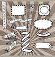 vintage diy design elements drawing set of frames vector image