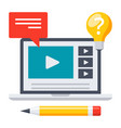 education online icon vector image