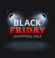 Black friday shopping sale background with vector image