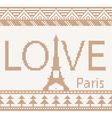 Eiffel tower Scandinavian style seamless knitted p vector image