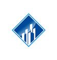 modern building cityscape business logo vector image