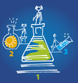 chemistry competition vector image vector image