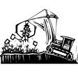 Protest Crane vector image vector image