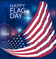 happy flag day greeting card june 14 vector image