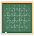 Puzzle on blackboard vector image