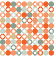 Retro seamless pattern with circles and stars vector image