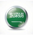 Saudi Arabia flag button vector image