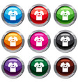 shirt with print set 9 collection vector image