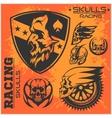 Sports insignia emblem set vector image