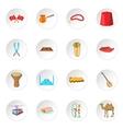 Turkey icons set vector image