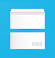White Envelope Blank Mockup Template vector image