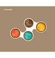 Info graphic circles with place for your text vector image