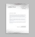 minimal white letterhead design vector image