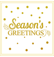 gold seasons greetings card design vector image vector image