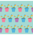 Tulip flower set in pot Seamless Pattern Wrapping vector image