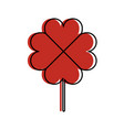 clover poker symbol icon vector image