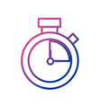 line clock alarm to know the hour time vector image