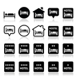 Hotel hostel with stars icons set vector image vector image