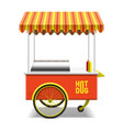 Hot dog street cart vector image vector image