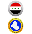 button as a symbol IRAQ vector image