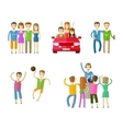 people icons set friends nightclub party or vector image