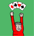 ases poker cards vector image