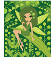 wood fairy vector image vector image
