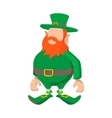 Leprechaun cartoon icon vector image