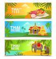 Thailand Horizontal Banners vector image