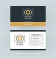 Golden and Black Business Card Design Template vector image